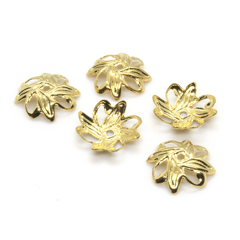 Bead Caps Leaf - 10mm - 10pc