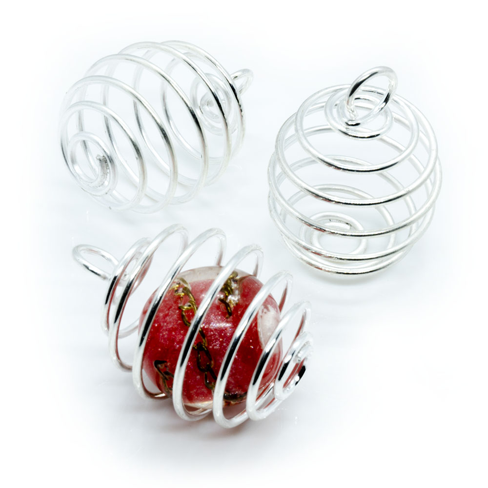 Spring Cage Bead - 30x20mm