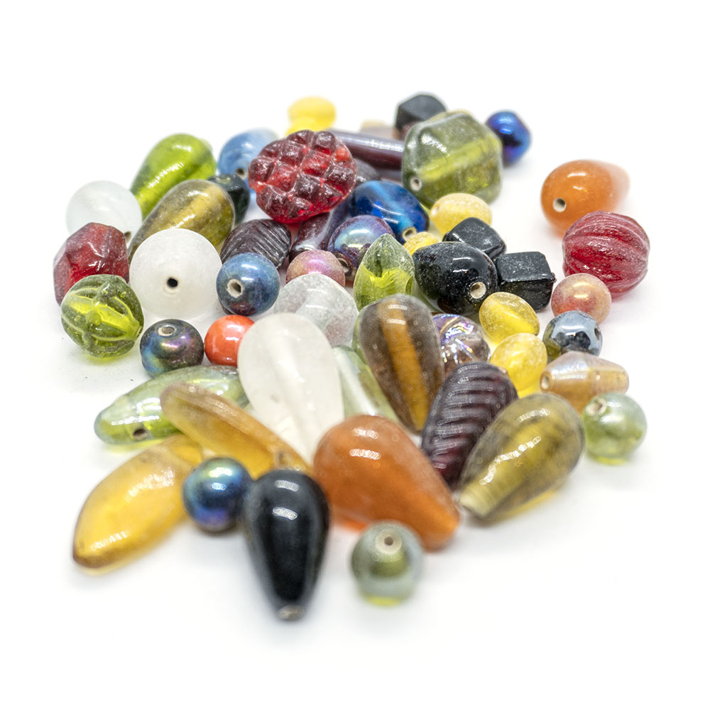 Indian Glass Bead Mix - 10pc