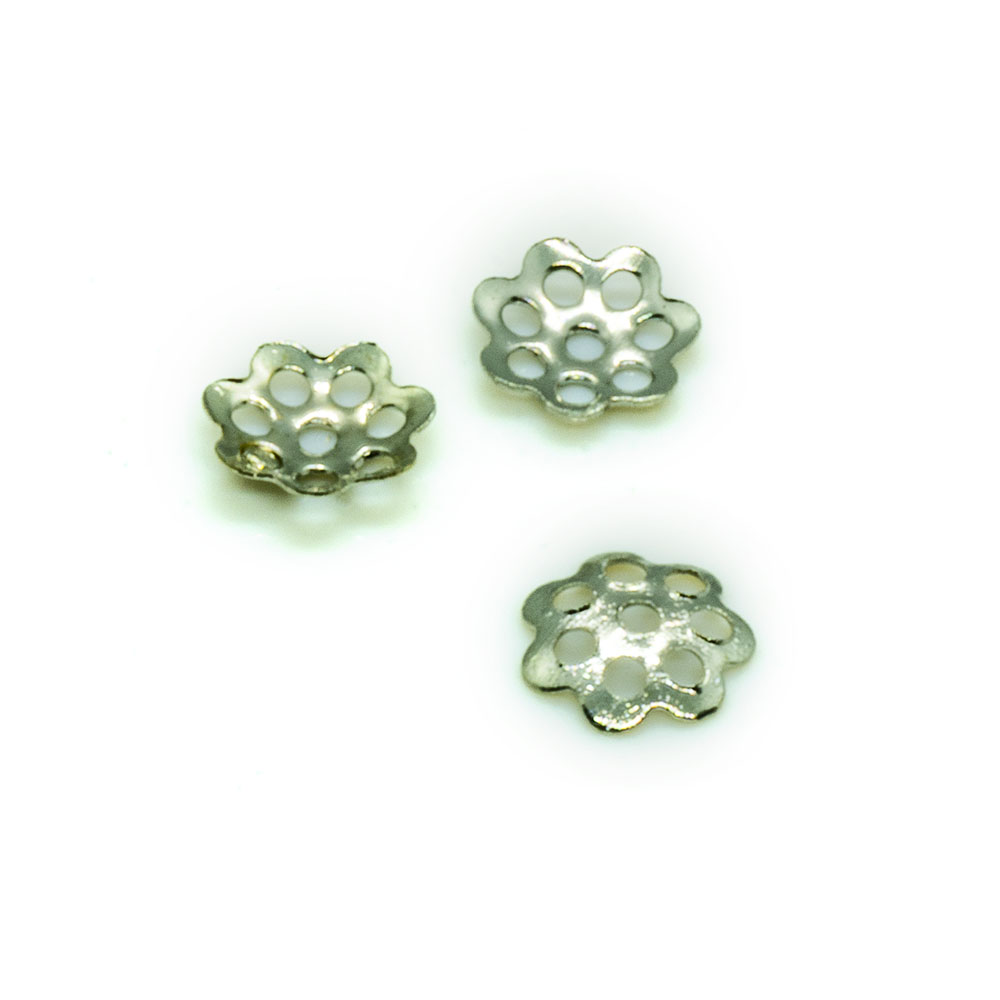 Bead Caps Flower - 6mm - 10pc