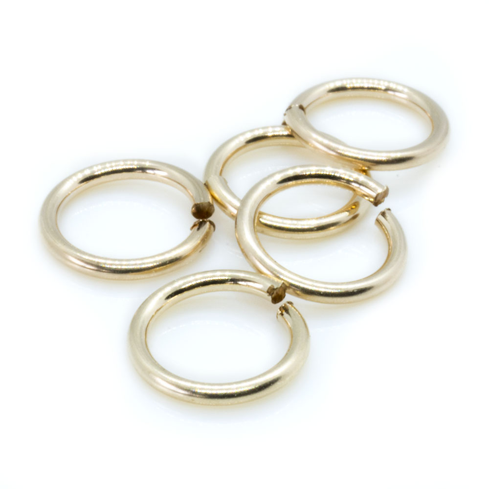 14k Gold Filled Jump Rings - 5mm - 10pc