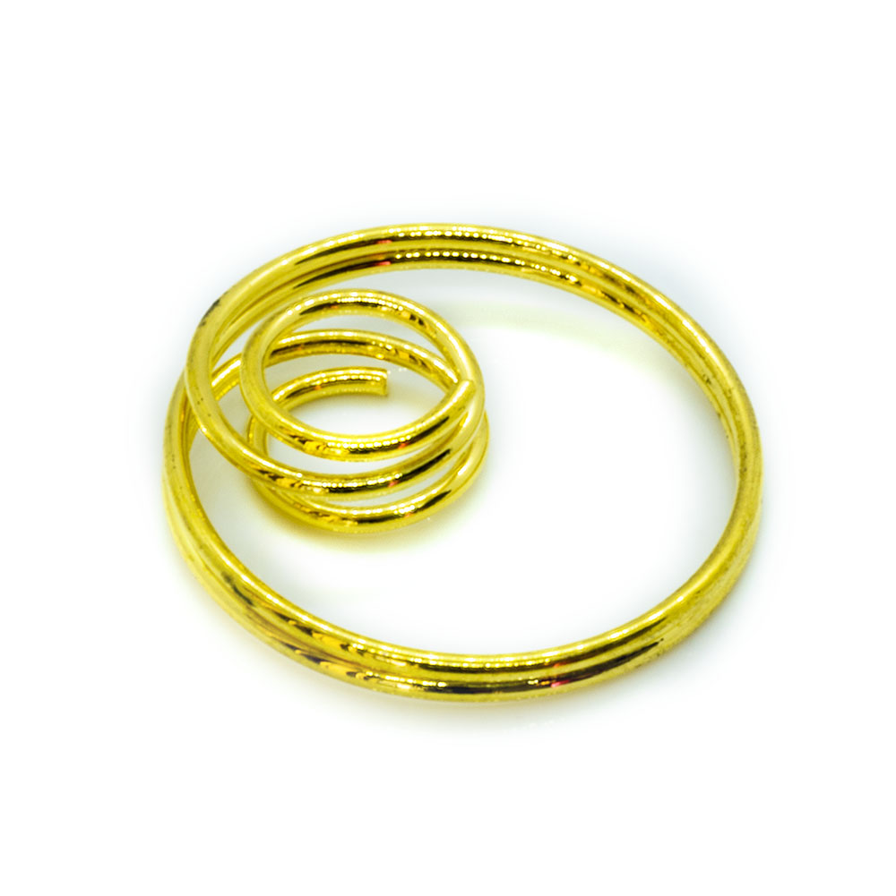 Gold Plated Double Hoop - 20mm