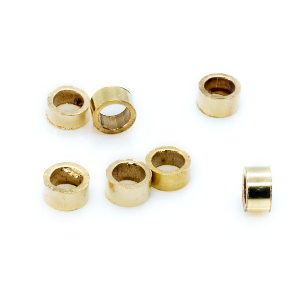 14k Gold Filled Crimp Beads - 2x1mm - 10pc