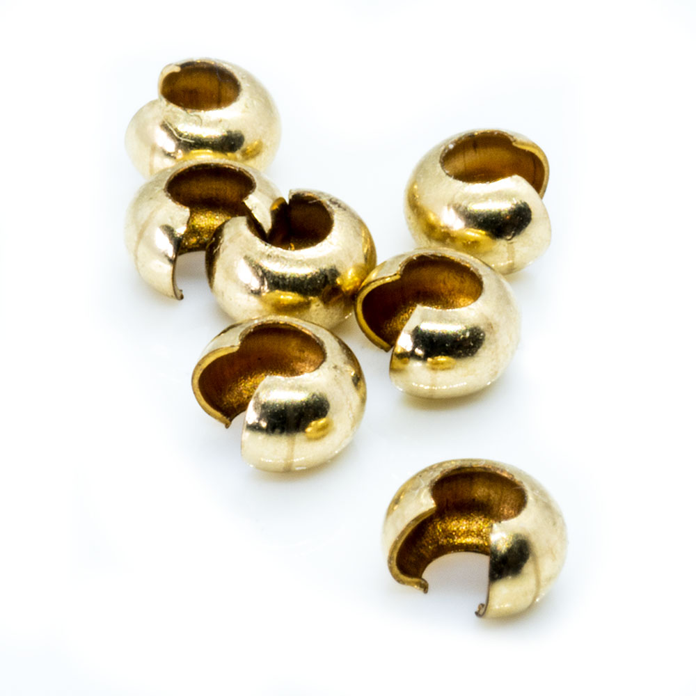 14k Gold Filled Crimp Covers - 3mm - 10pc