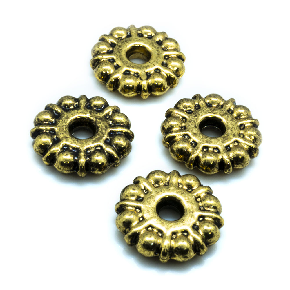 Rondelle Wheel With Dots - 8-9mm - 10pc