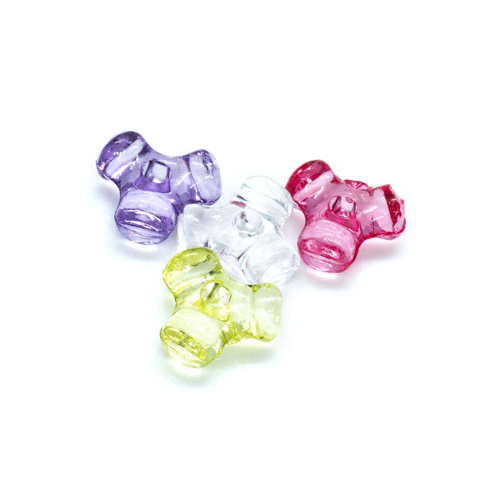 Acrylic Tri-sided Bead Mix - 10mm - 20pc