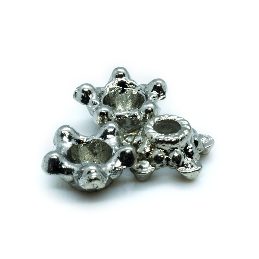 Bead Cap 5 Point Star - 6mm - 10pc