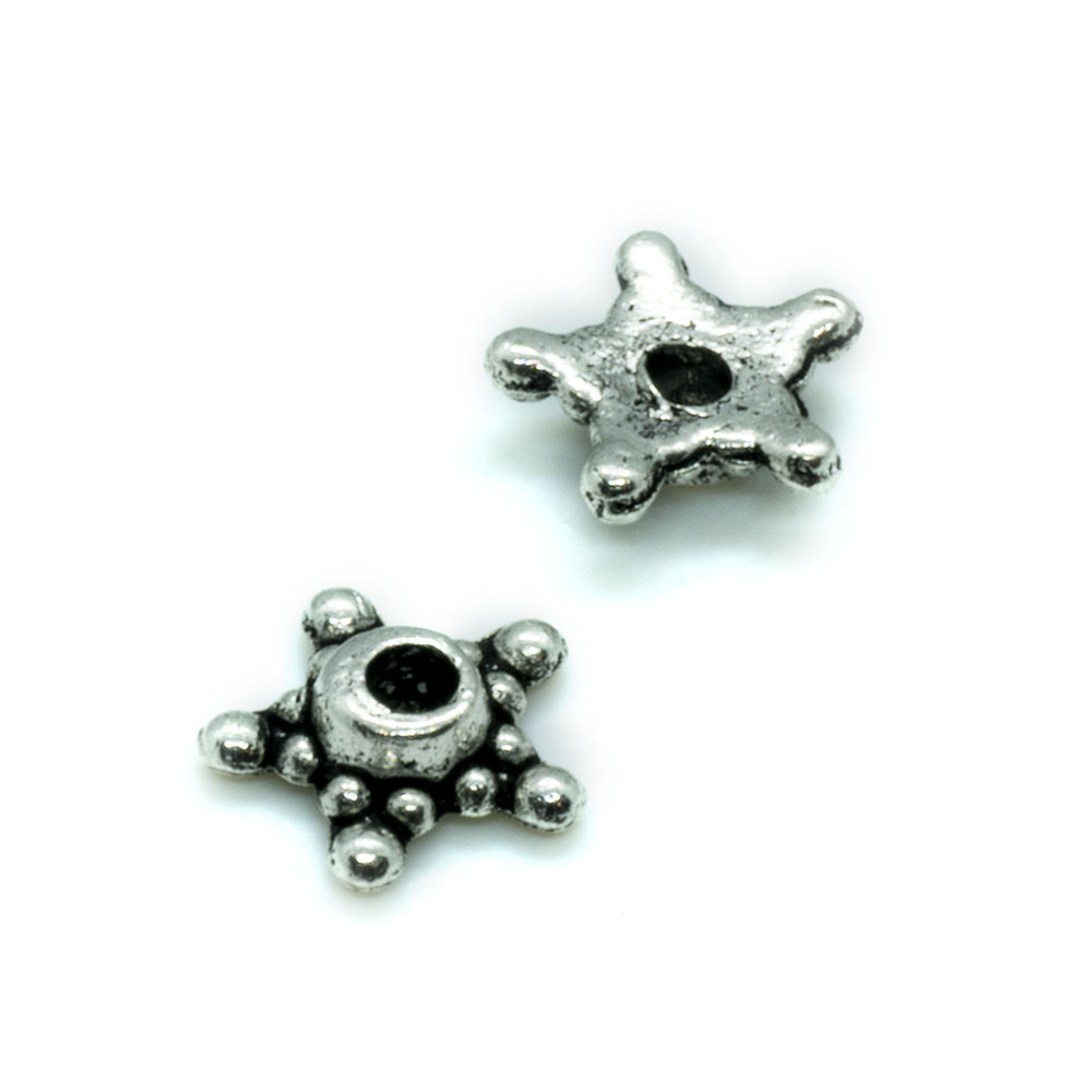 Bead Cap 5 Point Star - 9mm - 10pc
