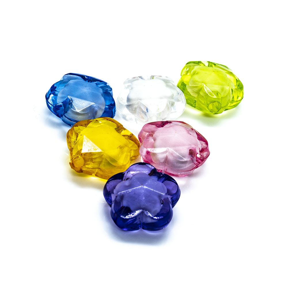 Bead in Bead - Flower - 14x7mm - 10pc