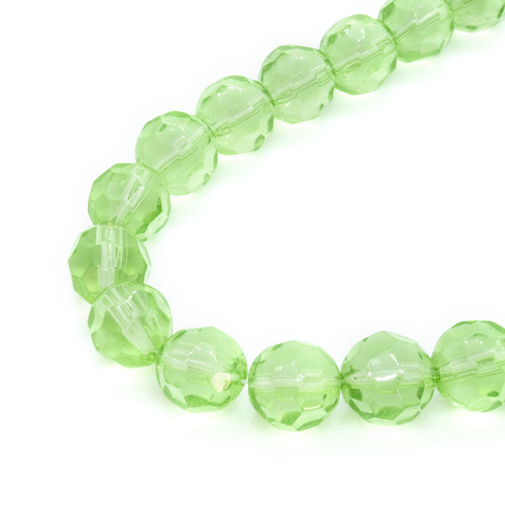 Chinese Crystal Faceted Glass Beads - 10mm - 34cm strand