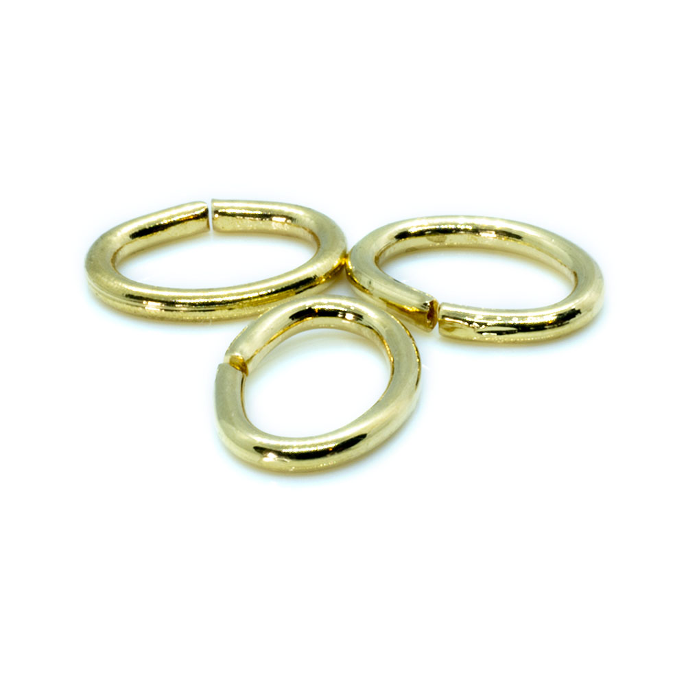 Jump Ring Oval - 8x6mm - 18 gauge - 10pc
