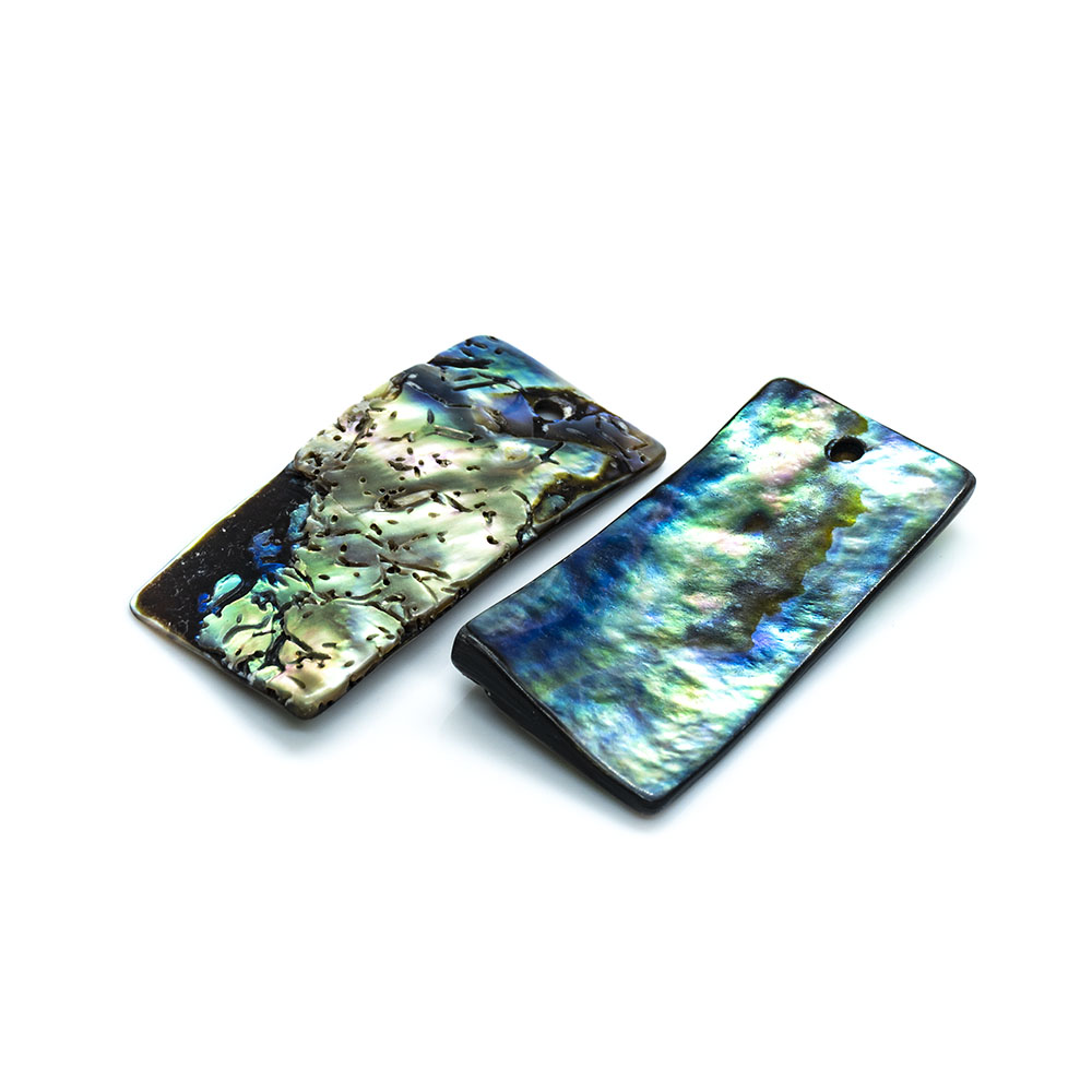 Paua Shell Rectangle - 30x13mm