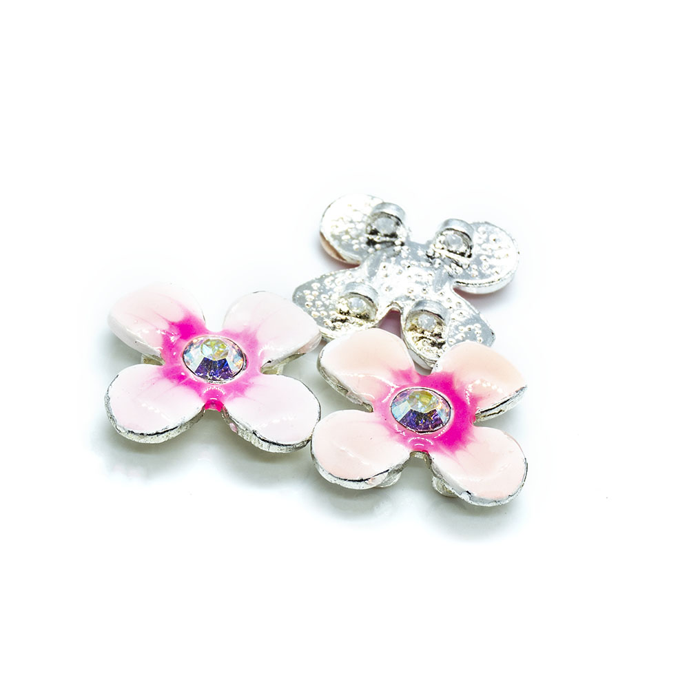 Spacer Bead with Swarovski Flower - 15mm