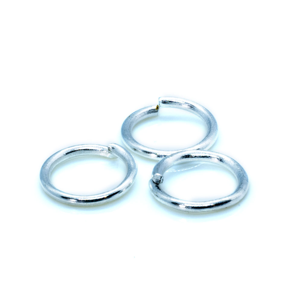Jump Rings 925 Sterling Silver - 6mm