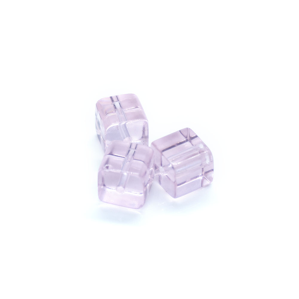 Glass Crystal Cube - 8mm