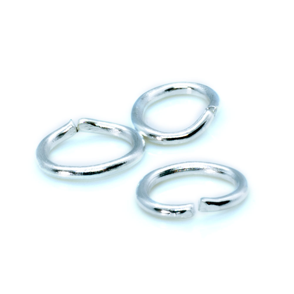 Jump Ring Oval - 6x4mm - 22 gauge - 10pc