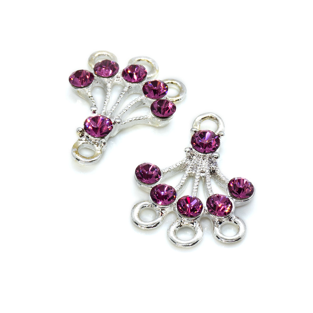 Drops with Swarovski Crystals - 2pc