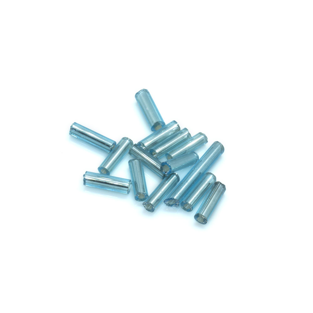 Silver Lined Bugle Beads - 6.35mm - 10g