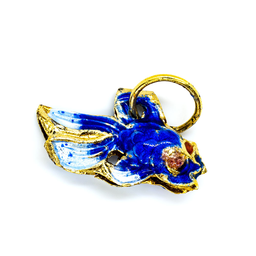Pendant Cloisonne - Blue Fish - 20x13mm