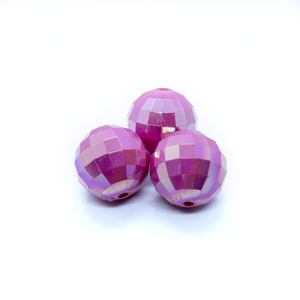 Bubblegum Acrylic Beads Faceted - 20mm