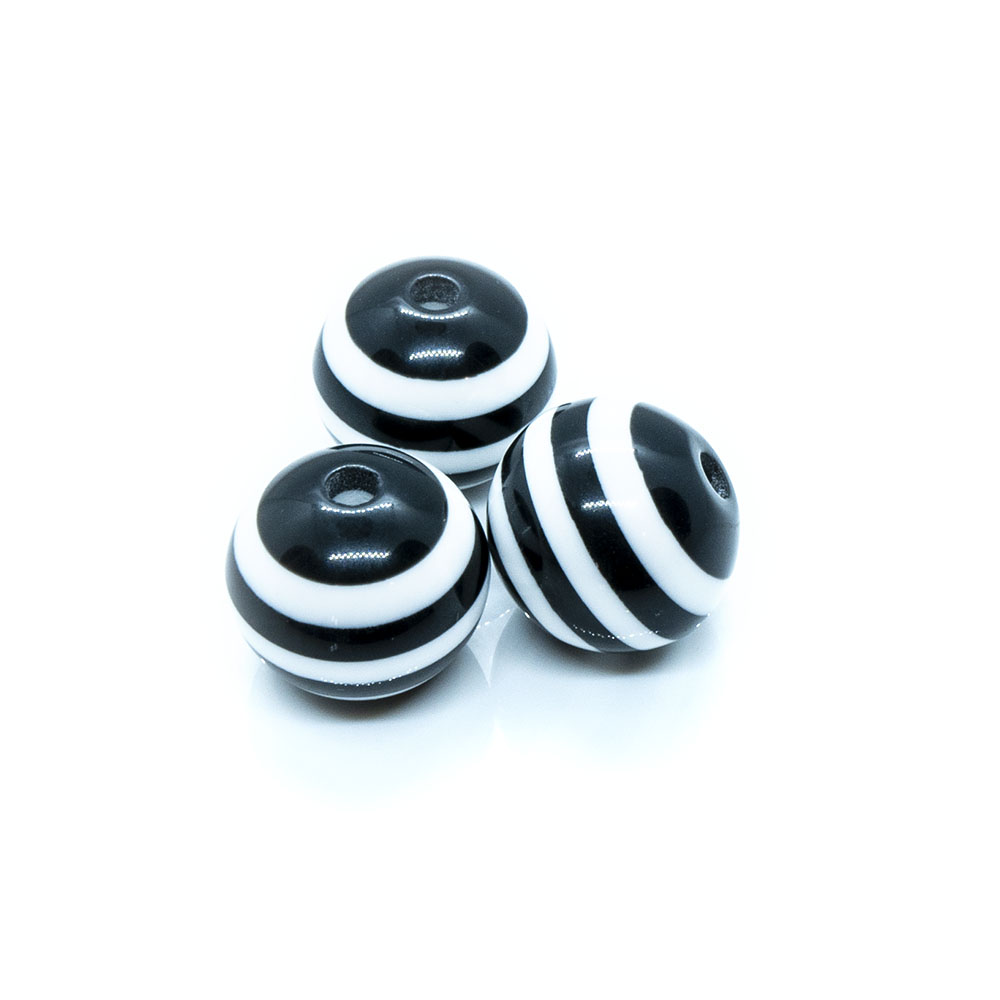 Bubblegum Striped Resin Beads - 16x15mm