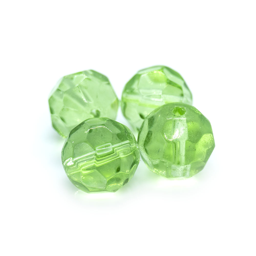 Chinese Crystal Faceted Glass Beads - 10mm - 5pc