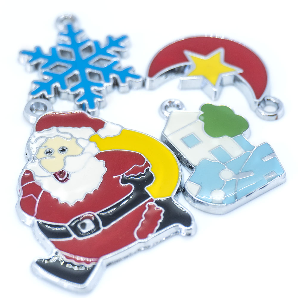 Enamel Christmas Charm Pack - 4 piece pack