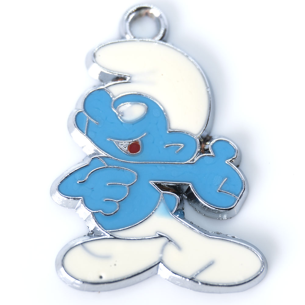 Smurf Enamel Pendant - Various Sizes and Styles