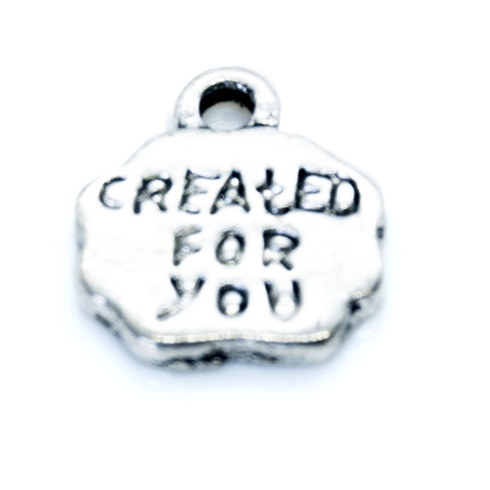 Created for You Charm - 12x11mm - 1pc
