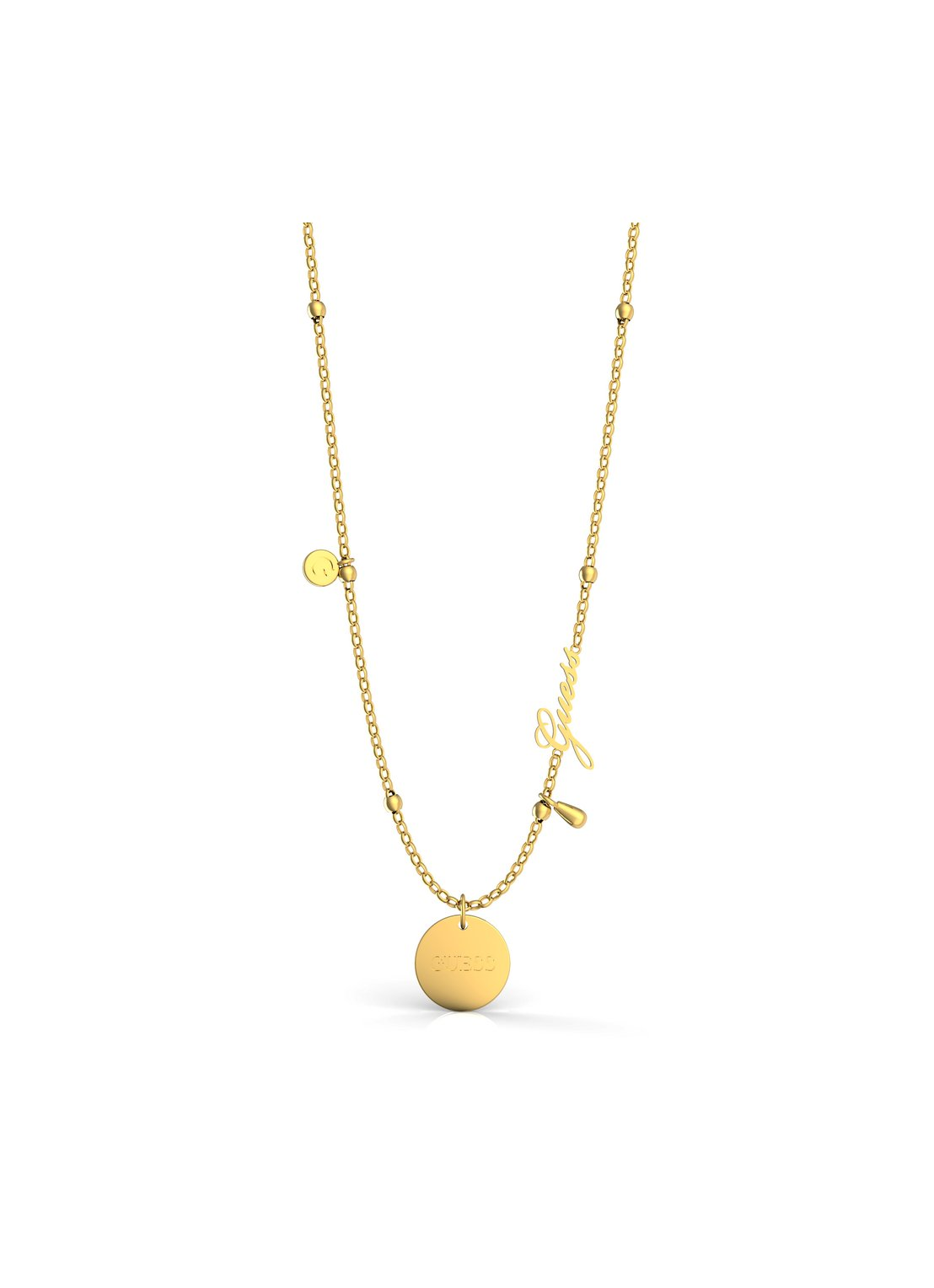 Guess ketting Peony Art | geelgoud plated