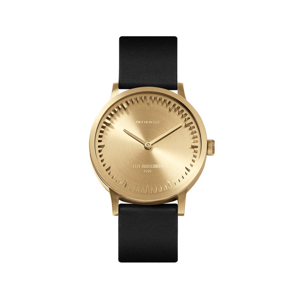 Leff horloge Tube Watch | Goud-Zwart | 32mm
