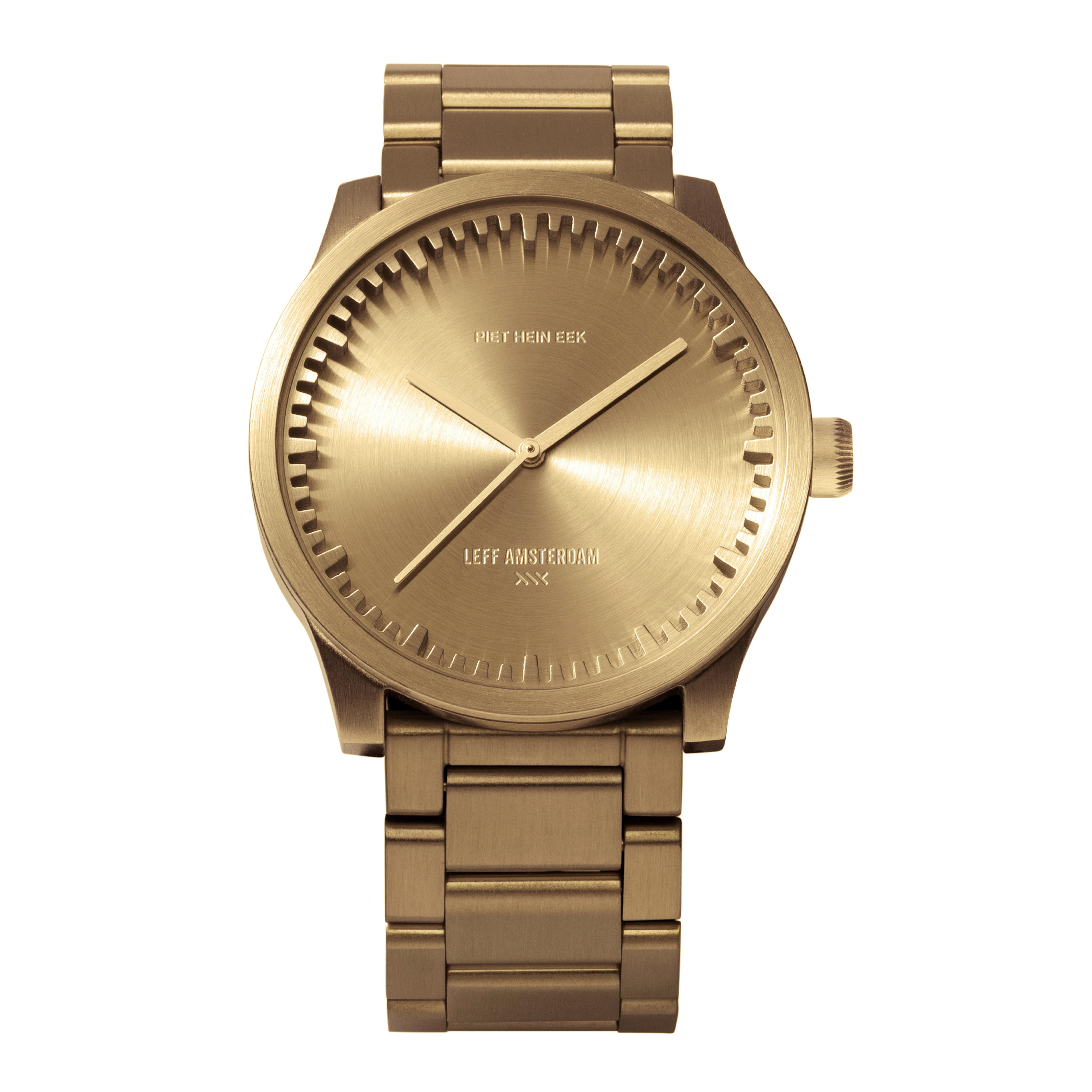 Leff horloge Tube Watch | Goud | 42mm