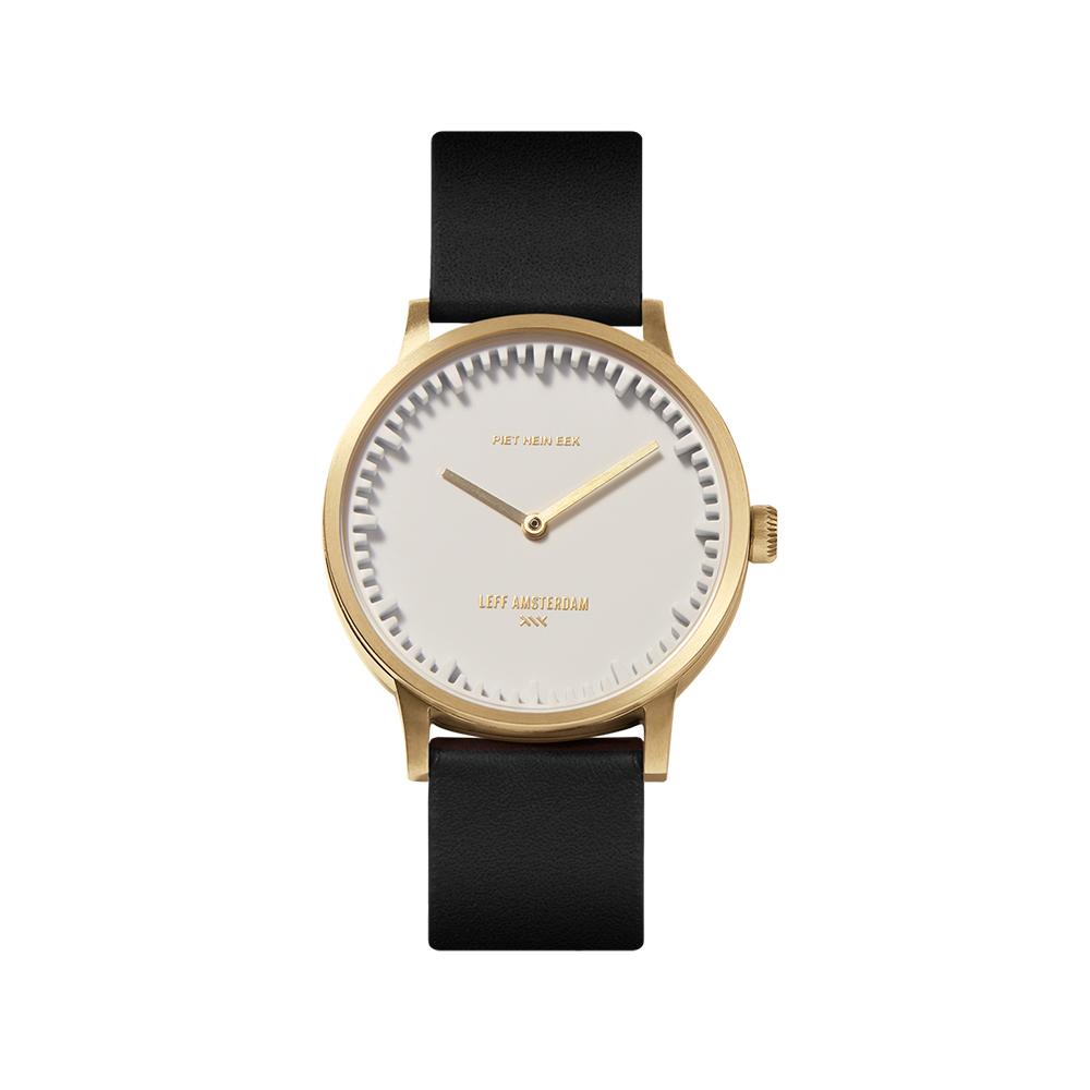 Leff horloge Tube Watch | Goud-Wit-Zwart | 32mm