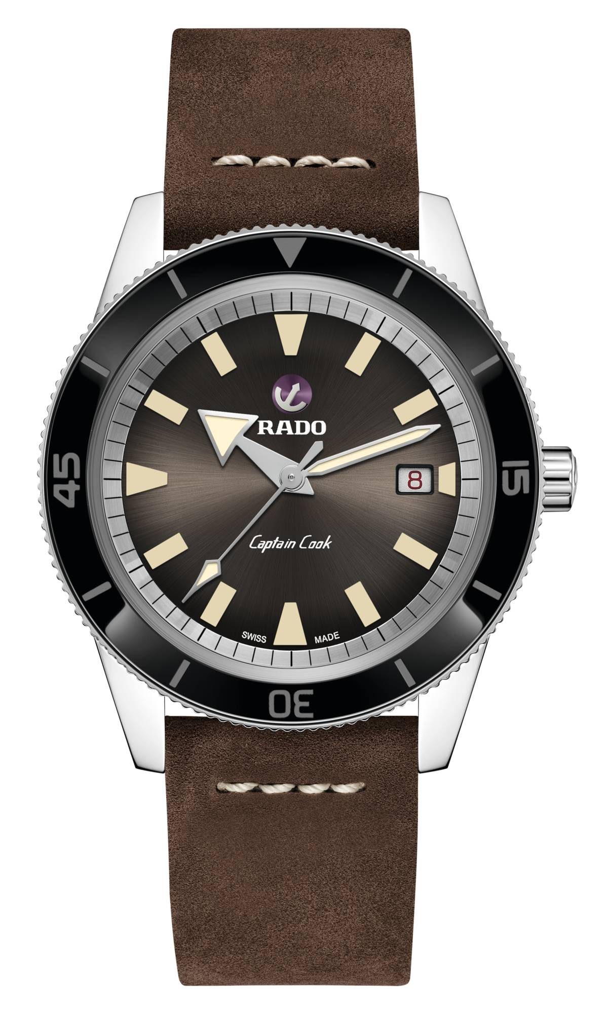 Captain Cook Automatic horloge Bruin | Rado