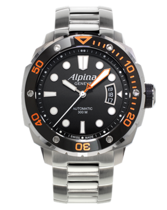 Alpina horloge Extreme Diver 300 Oranje | Staal