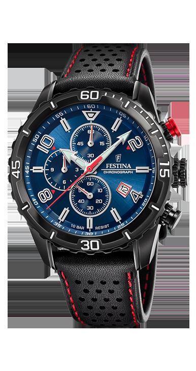 Festina the originals horloge F20519/2 | Zwart/Rood