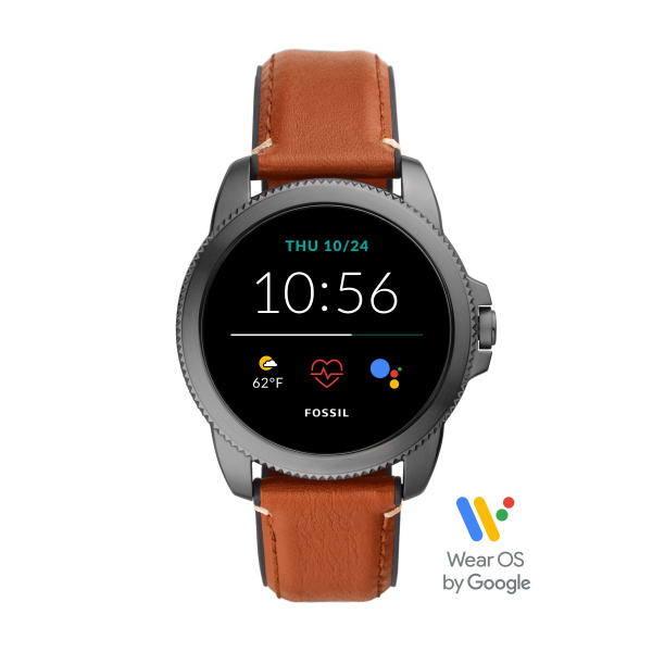 Fossil Smartwatch Gen 5E FTW4055 | Staal Bruin