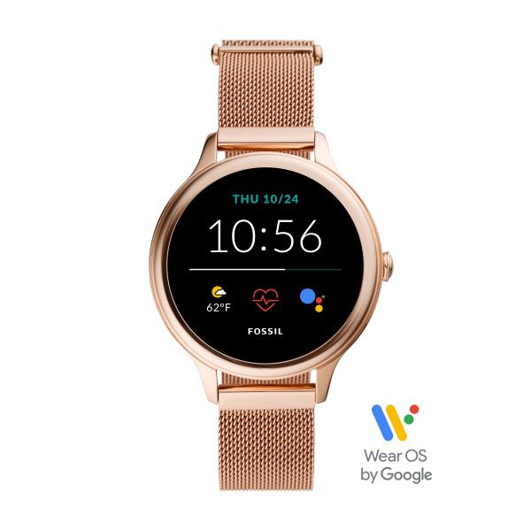 Fossil Smartwatch Gen 5E FTW6068 | Rosé Goud