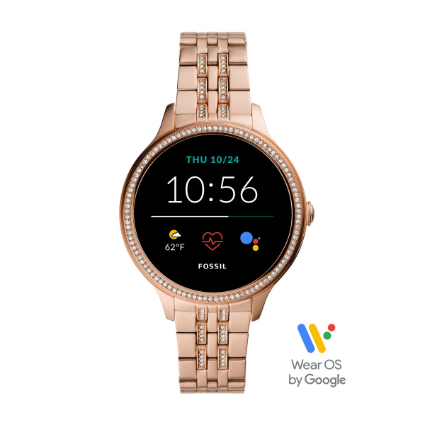 Fossil Smartwatch Gen 5E FTW6073 | Rosé Goud