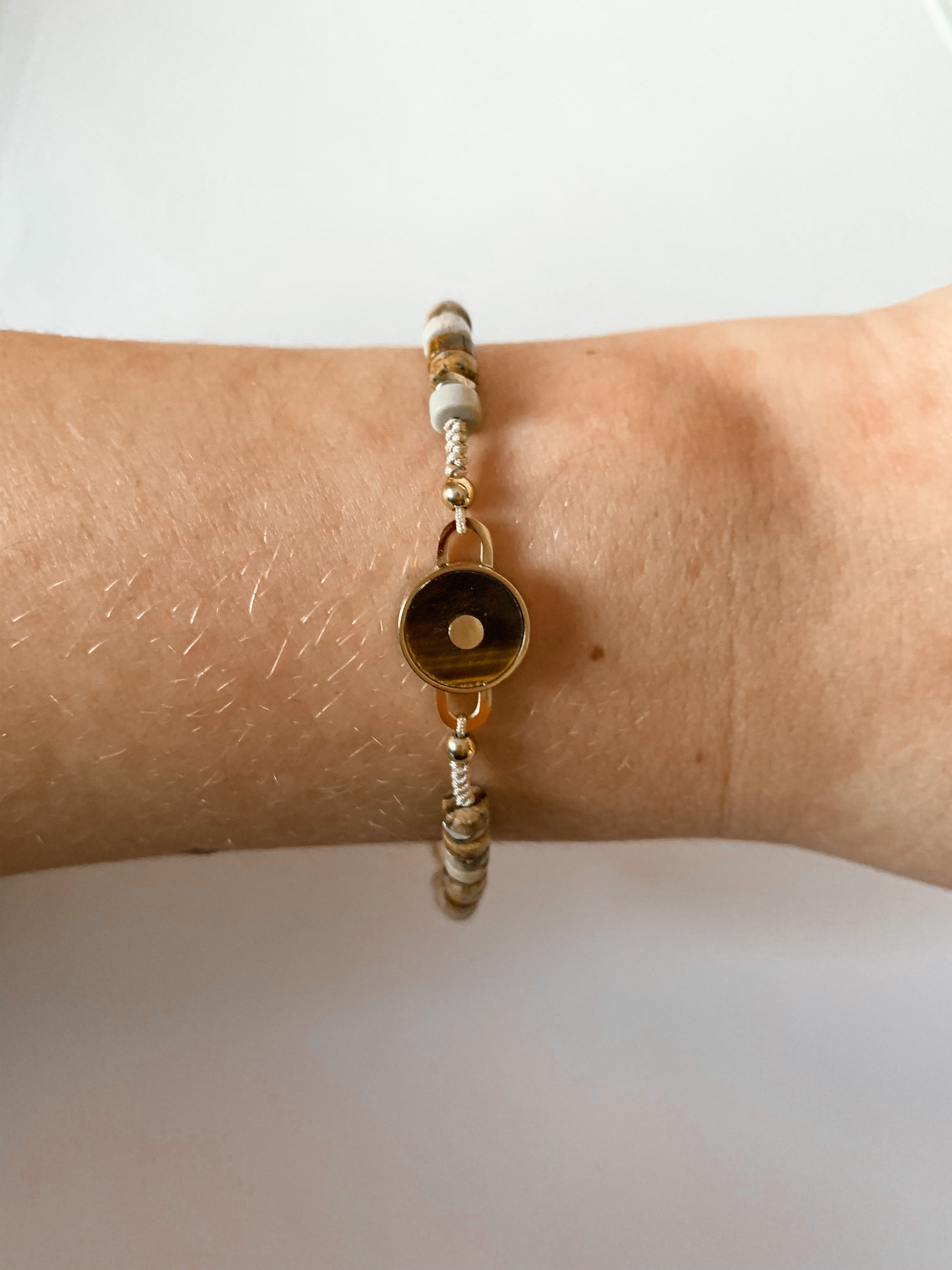 Zag Bijoux armband Bohemian Tijgeroog | Goud