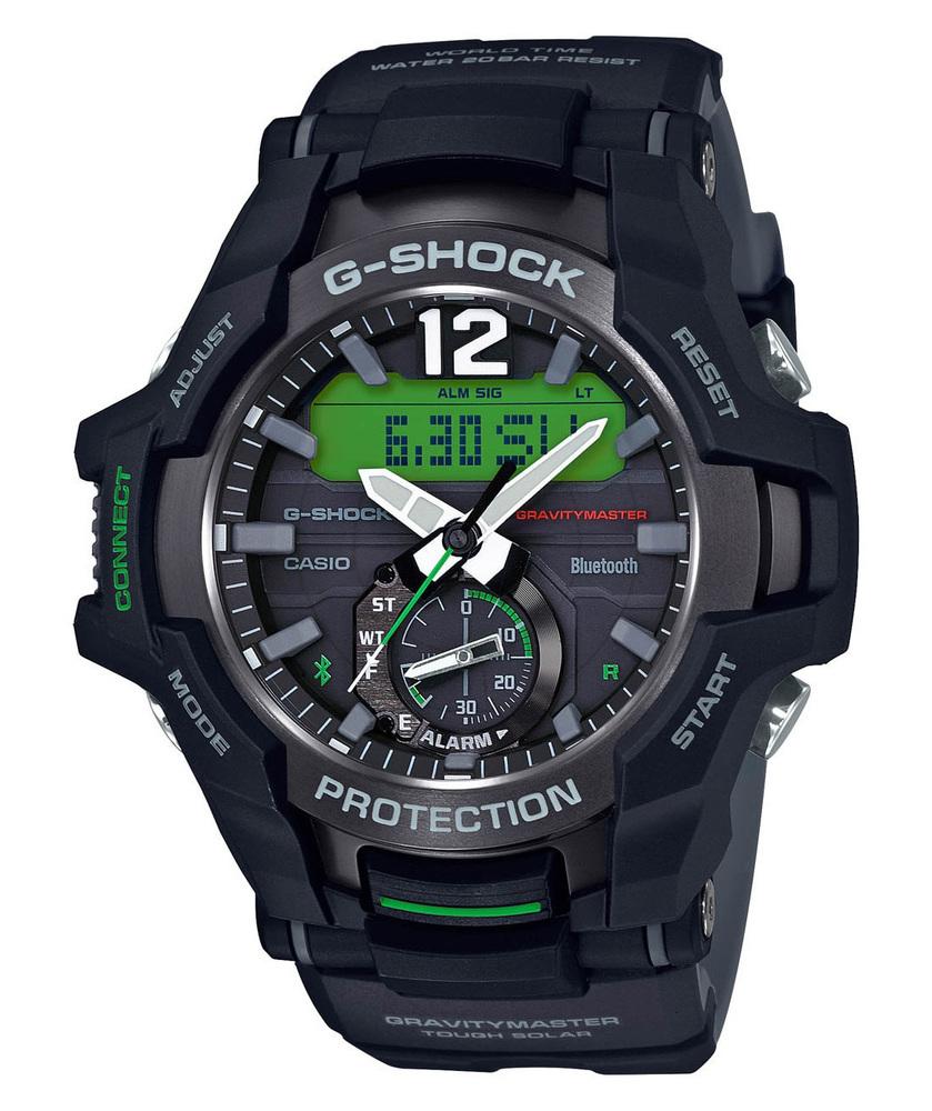 G-Shock Gravitymaster GR-B100-1A3ER | Zwart/Groen