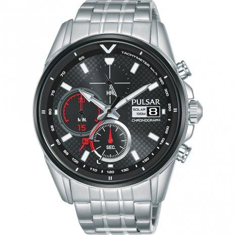 Pulsar Horloge Solar Chronograph PZ6027X1 | Staal