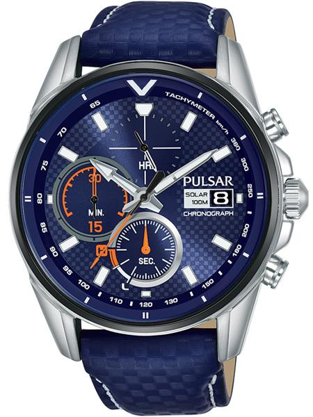Pulsar Horloge Solar Pulsar PZ6031X1 | Staal met Leren band