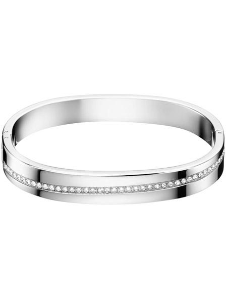 Calvin Klein Armband met Swarovski steentjes KJ06MD04010S | Zilverkleurig