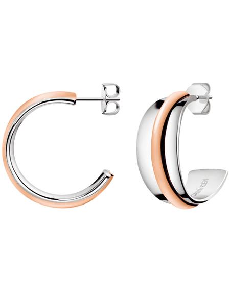 Calvin Klein oorbellen Slinky KJCZPE200100   Bicolor