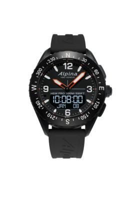Alpina horloge Hybride Smartwatch AlpinerX AL-283LBN5NAQ6| Zwart