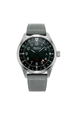 Alpina horloge startimer pilot quartz gmt | Grijs