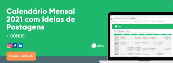 Calendário Mensal 2021 com Ideias de Postagens para Redes Sociais