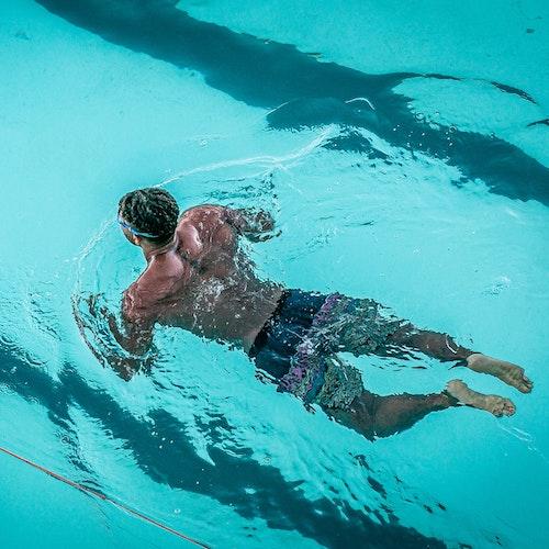 Instagram photo man swimming