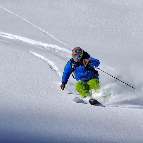 Instagram photo man skiing powder snow